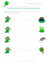 St. Patrick's Day Tracing Lines Worksheet