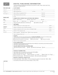 "GPO Form 952 ""Digital Publishing Information"""
