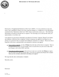 VA Form FL 1-28a Supplemental Statement of the Case