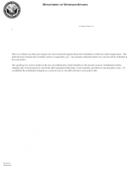 VA Form FL 4-437 Notice of Approval of Waiver Request