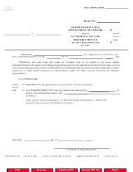 Form CJA 7 Order Terminating Appointment of Counsel and/Or Authorization for Distribution of Available Private Funds