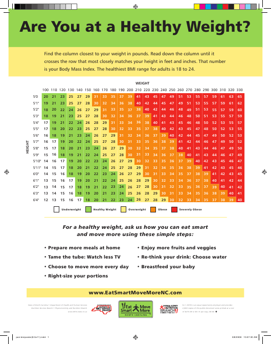 picture regarding Printable Bmi Chart titled Grownup BMI Chart Down load Printable PDF Templateroller