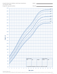 """Growth Charts for Children With Down Syndrome - Boys, 2 to 20 Years - Height-For-Age Percentiles"""