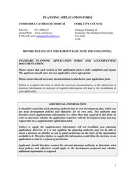 """Planning Application Form"" - Cork City, County Cork, Ireland"