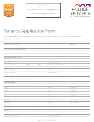 """Tenancy Application Form - Village Rentals & Property Management"""