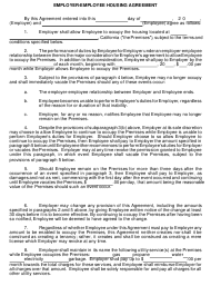 """Employer-Employee Housing Agreement Template"" - California (English/Spanish)"