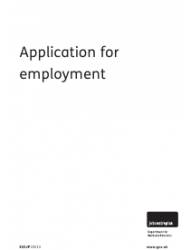 Form ES 5JP Application for Employment