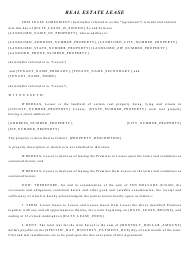 """Real Estate Lease Agreement Template"""
