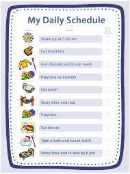 """""""My Daily Schedule for Children Template"""""""