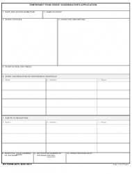 DD Form 2975 Temporary Food Event Coordinator's Application