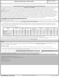 DD Form 2947-3 TRICARE Young Adult Application