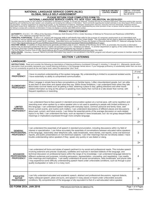 DD Form 2934 Fillable Pdf