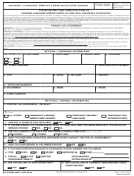 DD Form 2932 National Language Service Corps (nlsc) Application