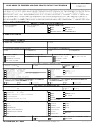 DD Form 2901 Child Abuse or Domestic Violence Related Fatality Notification