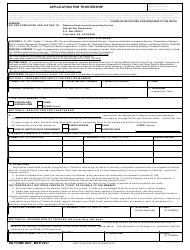 DD Form 2827 Application for Trusteeship