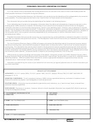 DD Form 2810 Personnel Recovery Debriefing Statement