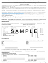 DD Form 2796 Post-deployment Health Assessment (Pdha)