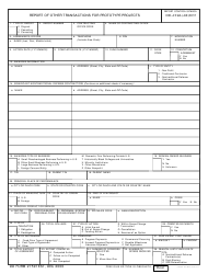 DD Form 2759 Report of Other Transactions for Prototype Projects