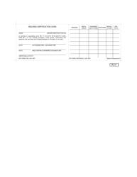 DD Form 2758 Welding Certification Card