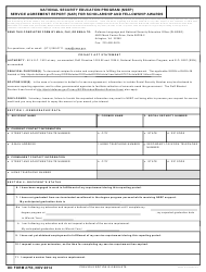 DD Form 2753 National Security Education Program (Nsep) Service Agreement Report for Scholarship and Fellowship Awards