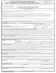 DD Form 2752 National Security Education Program (Nsep) Service Agreement for Scholarship and Fellowship Awards