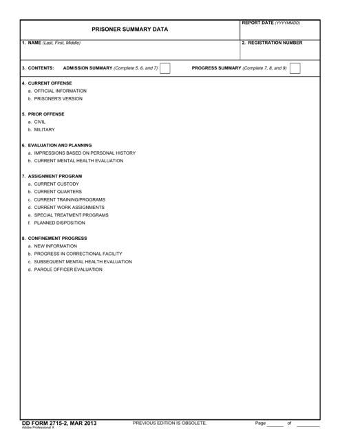 DD Form 2715-2  Printable Pdf
