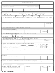 DD Form 2707 Confinement Order
