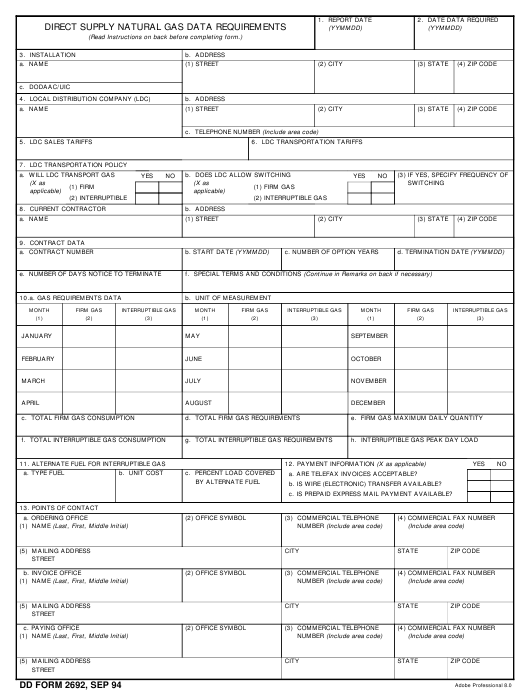 dd form 2692 download fillable pdf or fill online direct
