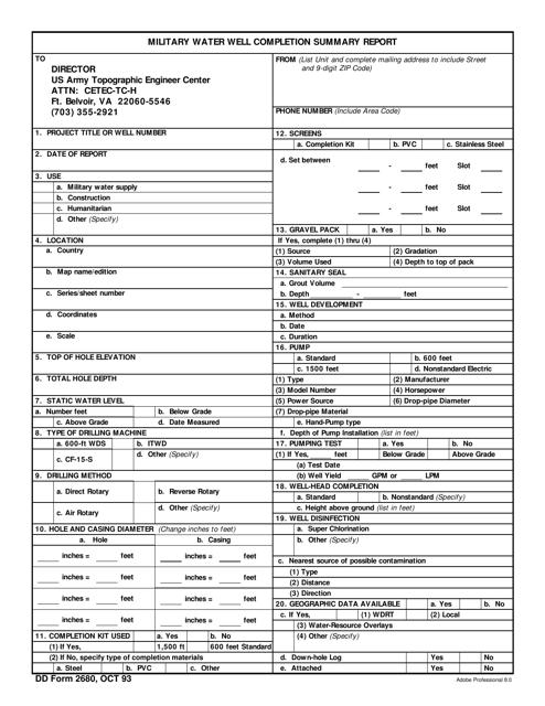 DD Form 2680 Fillable Pdf