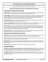 DD Form 2656-2 Survivor Benefit Plan (SBP) Termination Request