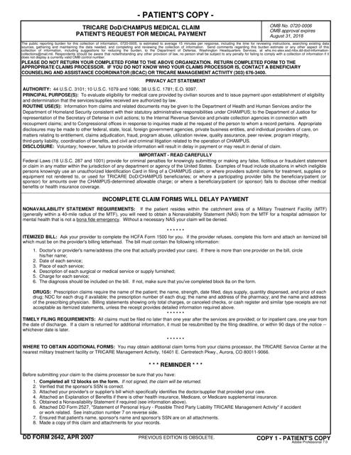 DD Form 2642  Printable Pdf