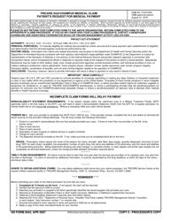 Dd Form 2642 Download Fillable Pdf Tricare Dod Champus Medical