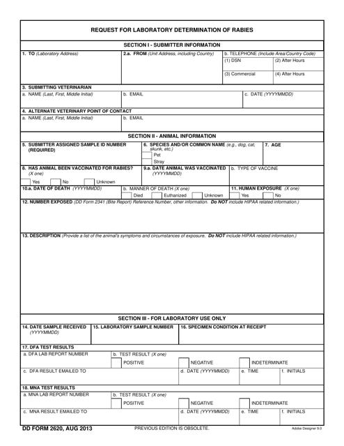 DD Form 2620 Fillable Pdf