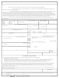 DD Form 2558 Authorization to Start, Stop or Change an Allotment
