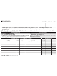 PS Form 3801 Standing Delivery Order