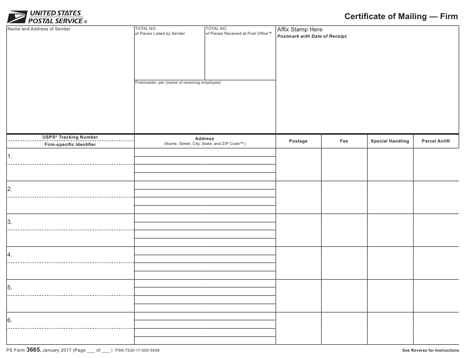 mailing certificate form ps pdf template fillable templateroller firm