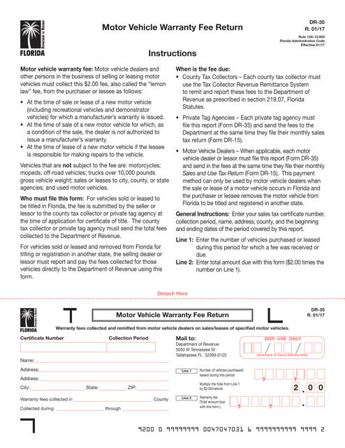 Form DR-35 Printable Pdf