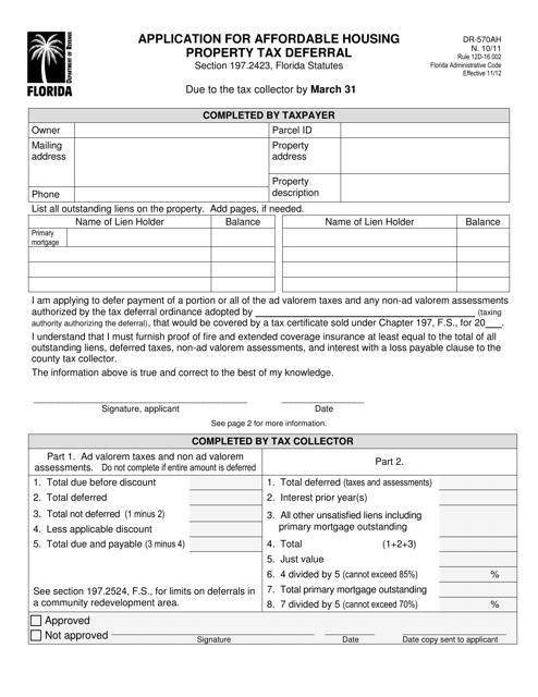 Form DR-570AH  Printable Pdf