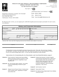 "Form DR-401 ""Private Car and Freight Line Equipment Companies Annual Report and Return to the State of Florida"" - Florida"