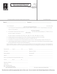 """Form DR-313 """"Affidavit of No Florida Estate Tax Due When Federal Return Is Required"""" - Florida"""