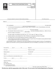 "Form DR-312 ""Affidavit of No Florida Estate Tax Due"" - Florida"