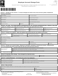 "Form RTS-3 ""Employer Account Change Form"" - Florida"
