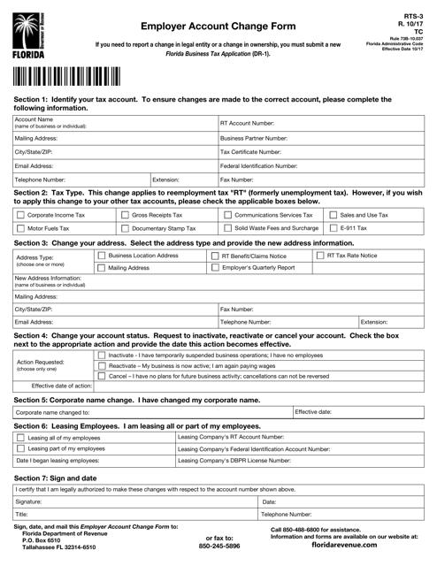 Form RTS-3 Printable Pdf