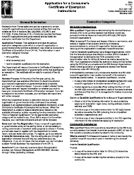 "Form DR-5 ""Application for a Consumer's Certificate of Exemption"" - Florida"