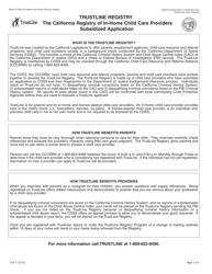 "Form TLR1 ""Trustline Registry in-Home/License Exempt Child Care Provider Program Background Check Application"" - California"