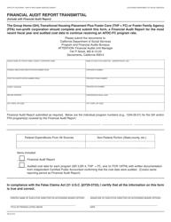 "Form SR8 ""Financial Audit Report Transmittal"" - California"