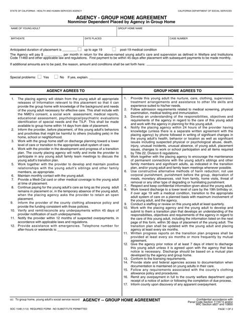 Form SOC154B  Printable Pdf