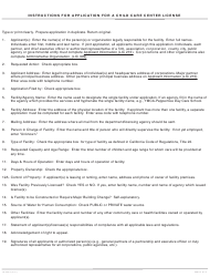 "Form LIC200A ""Application for a Child Care Center License"" - California, Page 2"