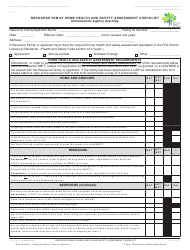 Form LIC 03 Resource Family Home Health and Safety Assessment Checklist - California