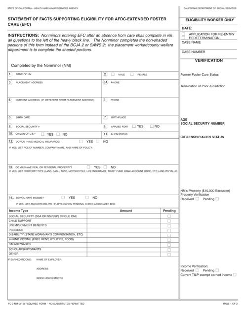 Form FC2 NM  Printable Pdf